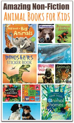 15 Amazing Non-fiction Animal Books for Kids INCLUDES A $25 USBORNE BOOK GIVEAWAY from Starts At Eight