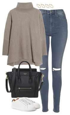 """Untitled #4838"" by eleanorsclosettt ❤ liked on Polyvore featuring Topshop, N.Peal Cashmere, MANGO and ASOS"