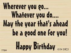 DRS Designs - Wherever You Go Birthday Greeting - 779H, $10.80 (http://www.drsdesigns.com/wherever-you-go-birthday-greeting-779h/)