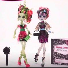 New Monster High dolls! this line is called ZombieDance!