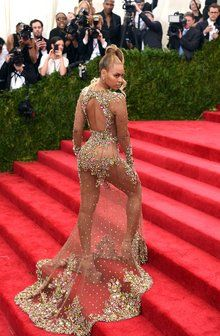 Beyoncé in a Givenchy dress and Lorraine Schwartz jewelry at the 2015 Met Gala