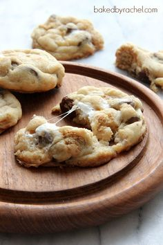 Perfect S'more Cookies Recipe from bakedbyrachel.com Summertime goodies!!