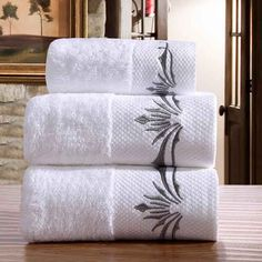 Low Stock! NEW Five Star 100% Combed Cotton Mrs. 3 PC Bath Towel Set
