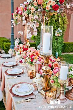 Unique and Luxurious Wedding Head Table Decor Ideas | Rose Gold, Blush, Overhead Floral, Hanging Terrariums and Lots of Candles | Always Flawless Productions | San Diego's Best Wedding Planner | Wedding Inspiration: Rose Gold