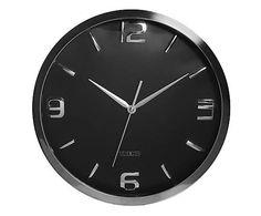 Relógio de Parede Shiny Preto - 60cm