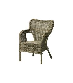 """IKEA Byholma Chair ($90) """"I love these chic Byholma wicker chairs! I have used them in lots of places, from breakfast rooms in the city to beach houses. They are wonderfully made and extremely comfortable."""" –Alessandra Branca, Branca"""