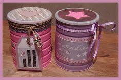 que faire de ses vieilles boîtes de lait en poudre? Tin Can Crafts, Diy And Crafts, Decoupage, Pots, Art N Craft, Diy For Kids, Baby Love, Christmas Crafts, Lunch Box