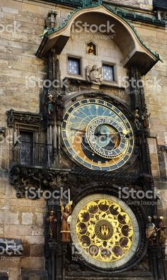 Detail of the astronomical clock of Prague royalty-free stock photo