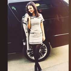 Gorgeous Victoria Justice having a tweed moment in my #rachelzoe collection..so maj!!