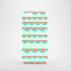 Watermelons lace phone case / glossy case / coral by PardonMyTone