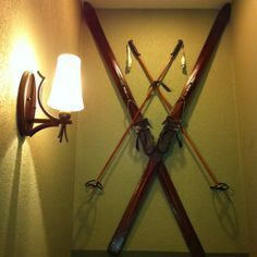 Antique Skis Add A Vintage Flare To Any Ski Chalet