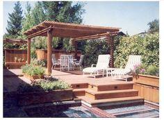 backyard patio deck designs - Google Search