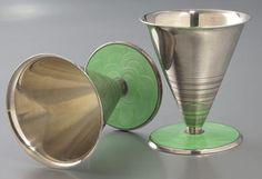 David-Andersen Enameled Silver Cocktail Set - c. 1930's - LiveAuctioneers - Art Deco - @~ Mlle