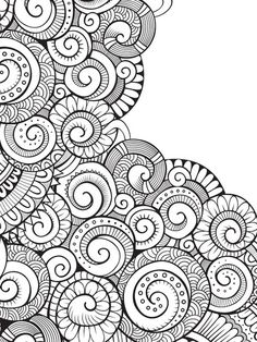 Color Mind Anti-Stress Color Therapy : Terapia da Cor by MTC Edições Doodle Art Drawing, Mandalas Drawing, Zentangle Drawings, Doodles Zentangles, Pattern Coloring Pages, Mandala Coloring Pages, Coloring Book Pages, Doodle Patterns, Zentangle Patterns