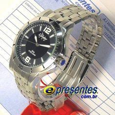 d74987993a1 KT20291P Relógio de Pulso MASCULINO Condor New 100metros Aço. E-Presentes
