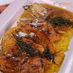 Ham & Turkey Cutlets with Gravy by Michael Symon! #TheChew