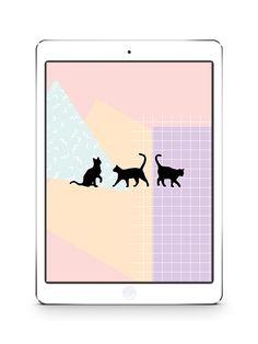 Black cat ipad wallpaper - free download