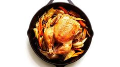 Cast-Iron Roast Chicken with Fennel and Carrots Recipe | Bon Appetit