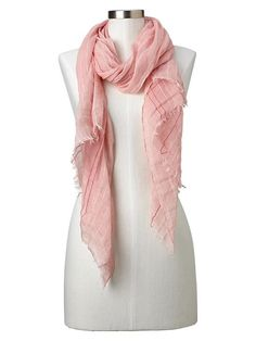 Embroidered stripe scarf Product Image