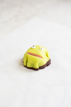This green little frog cake is a common cake in Denmark. Today it is called Kajkage (Kaj cake) because it resembles the beloved frog called Kaj from a Danish children's program. Danish bakeries sta…