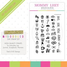 My Doodled Day Planner Stamps - Mommy Lhey Designs