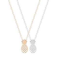 New Style 30pcs/lot Boho Chic Pineapple Fruit Necklace Unique Pendant Necklace Minimalist Jewelry Gift for Girls and Women