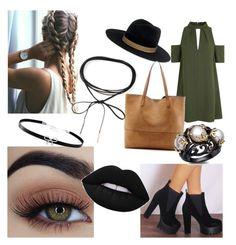 """Cute outfit"" by biankaradacovska ❤ liked on Polyvore featuring beauty, Topshop, Janessa Leone, Sole Society, Azalea and Giani Bernini"