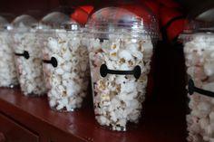 Big Hero 6 popcorn favor inspired Baymax Vinyl Decal by TypoRific on Etsy