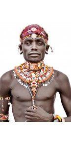 Samburu Man Eclectic Artwork, African Tribes, Mario