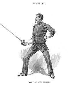 Hutton - Saber Parry In Low Tierce