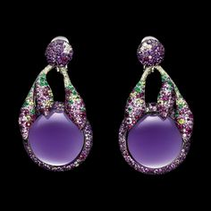de Grisogono - Jewellery, High Jewellery, Timepieces Collection. White gold - amethysts - white diamonds - emeralds - peridots - rubies - pink sapphires