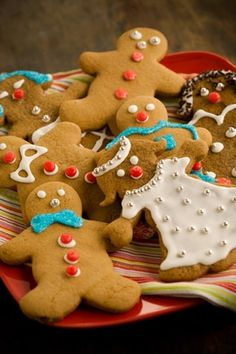 Tasty and pretty, these Gingerbread Boys and Girls are the perfect cookies to bake with your children or grandchildren.
