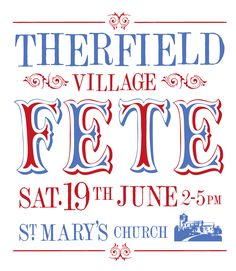 "This is a sample poster made by the Graphic designer ""Trevor Mill"". I think this is really impressive. The font is very grand and traditional. The colours used are also patriotic adding a greater sense of the wider community. Ref.http://trevormill.files.wordpress.com/2010/04/therfield-village-fete_part2.jpg"