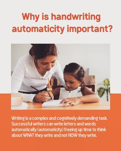 Did you know when you master handwriting automaticity, your brain is free to concentrate on what you write and not how you write. Handwriting App, Letter Writing, Your Brain, Assessment, Did You Know, Writer, Success, Letters, Words