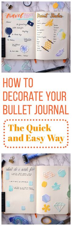 Creative Decorating: How to Decorate Your Bullet Journal the Quick and Easy Way. Bujo hacks Planner Art enhance your bullet journal spreads and trackers with quick art.
