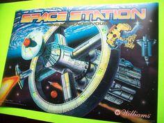 Williams SPACE STATION 1987 NOS Pinball Machine Translite & Playfield Plastics  #WilliamsSpaceStation