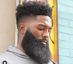 Long Beard Styles, Hair And Beard Styles, Curly Hair Styles, Black Men Hairstyles, Haircuts For Men, Black Hairstyle, Style Hairstyle, Afro Hairstyles, Short Haircuts