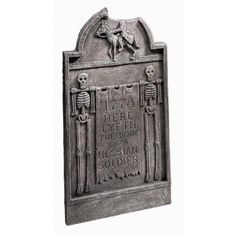 "Headless Horseman Tombstone Prop - reads ""1778 Here lyeth the body of a Hessian soldier"", 14 wide X 20.5 high"