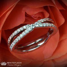 gorgeous diamond twist wedding band