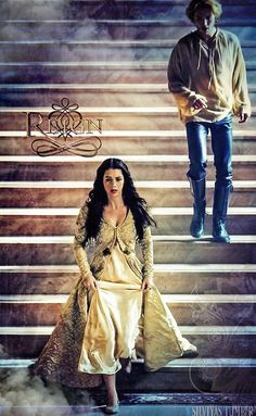 Reign poster with Mary and Francis on the stairs. #reign #cw #tv