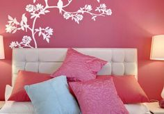 breathe new life into your decor #paint #pinkpaint #throwpillows #pinkpillow #interiordesign #homeremodeling #homedecor