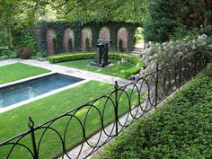 Pool with Nice Iron Fence Detail
