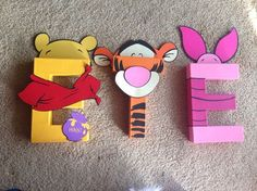 Do It Yourself Winnie the Pooh Letter Kit by PrettyPartiesndPaint