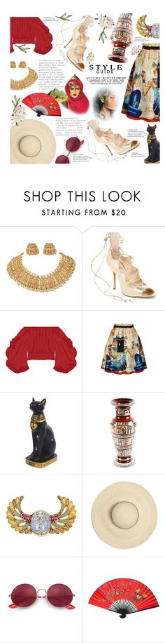 """""""JOURNEY: egypt!"""" by antrum ❤ liked on Polyvore featuring Vince Camuto, WithChic, Ray-Ban and egypt"""