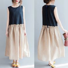 Blue rice long dress women clothes