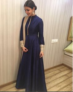 """Anushka Sharma In A Beautifully Embroidered Dress Designed By Manish Malhotra ,She Used In A """"Ae Dil Hai Mushkil"""" Movie Promotion.For This Dress Drop A Mail At contact@ladyselection.com"""