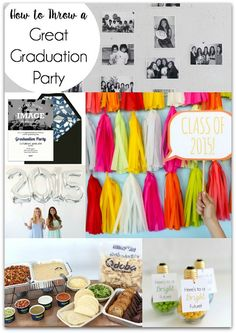 How to Throw a Great Graduation Party, tons of tips and cool ideas! Celebrate your favorite grad with these fun and festive ideas. #Qdoba #EviteParty #ad