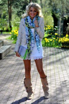 dress. boots. jacket .purse.scarf!(: