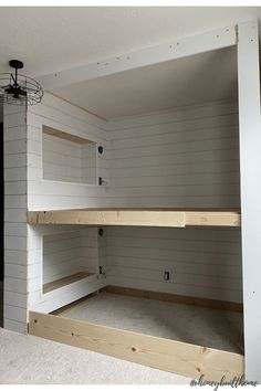 Built In Bunkbeds, Built In Bed, Built Ins, Cabin Bunk Beds, Queen Bunk Beds, Bunk Bed Plans, Bunk Rooms, Bed Dimensions, Tiny Apartments