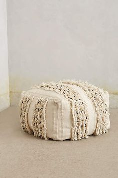 Moroccan Wedding Pouf - anthropologie.com